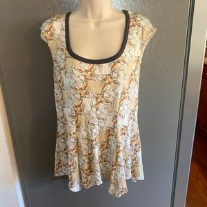 Anthropologie Weston Cap Sleeve Blouse Small